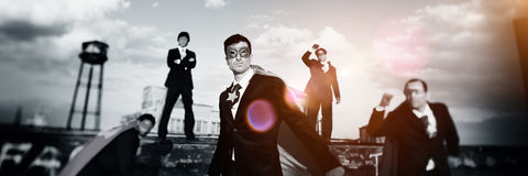 Business Superheroes Beach Achievement Concept Royalty Free Stock Images
