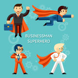 Business superheroes characters stock illustration