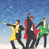 Business Superheros Winter Snow Rescue Concept Royalty Free Stock Photo