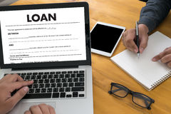 Business Support  COMMERCIAL LOAN , document and agreement signi. Ng Royalty Free Stock Photos