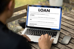 Business Support  COMMERCIAL LOAN , document and agreement signi. Ng Royalty Free Stock Images