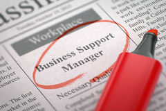 Business Support Manager Hiring Now. 3D. Stock Images