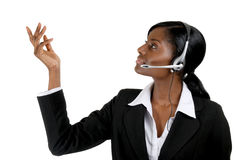 Business support operator presentation Royalty Free Stock Photos