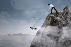 Business support to overcome adversity Royalty Free Stock Photography