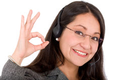 Business support woman Stock Image