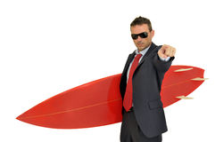 Business surfer Royalty Free Stock Photos