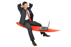 Business surfer Royalty Free Stock Images