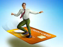 Business surfing Stock Photo