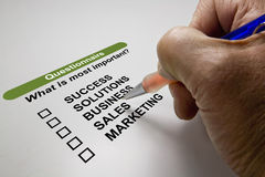 Business survey Royalty Free Stock Photos