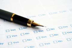 Business survey form Royalty Free Stock Photos