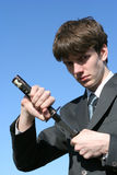 Business swordsman Royalty Free Stock Photo