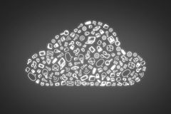 Business symbol in form cloud Royalty Free Stock Photo