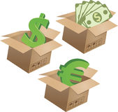 Business symbols in boxes. Set - 01 Stock Photos