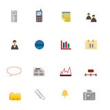 Business Symbols Icon Set. Various business related symbols in icon set Stock Photo
