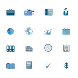 Business Symbols Icon Set Royalty Free Stock Image