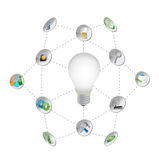 Business symbols and icons lightbulb Stock Photos
