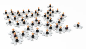 Business Symbols, Jigsaw Field Royalty Free Stock Image