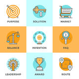 Business symbols line icons set Royalty Free Stock Photos