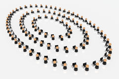 Business Symbols, Office Circles Royalty Free Stock Photos