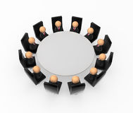 Business Symbols, Round Table Royalty Free Stock Image