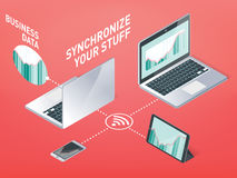 Business synchronization Royalty Free Stock Photography