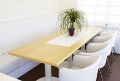 Business table with chairs Royalty Free Stock Photography