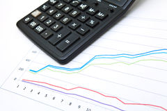 Business table with chart Royalty Free Stock Images