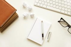 Business table on white background Stock Images