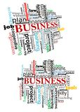 Business tag cloud Royalty Free Stock Photo