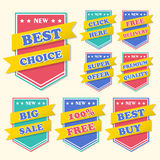 Business tag set and sale label Stock Image