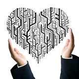Business take care the heart Stock Photos