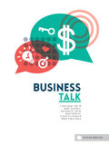 Business talk bubble speech concept background design layout Stock Images