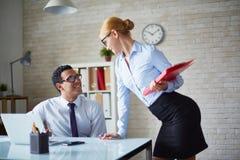 Business talk Stock Image
