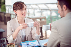 Business talk Stock Image