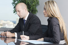 Business talk in office Stock Image