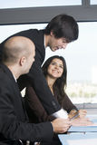 Business talk in office Royalty Free Stock Photo