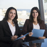 Business talk in office Royalty Free Stock Image