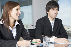 Business talk in office Stock Photos