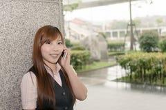 Business talk on phone Stock Photos