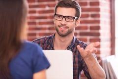 Business talk. Stock Photos