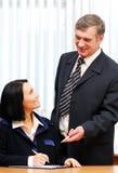 Business talking Royalty Free Stock Photos