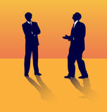 Business talks. stock illustration