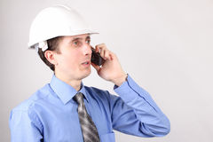 Business talks on the phone Royalty Free Stock Image
