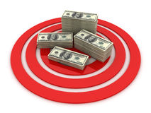 Business target. This is a 3D rendered picture Royalty Free Stock Photography