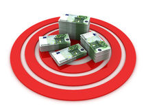 Business Target. This is a 3D rendered picture Stock Image