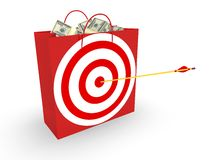 Business Target. Concept in 3D Stock Images