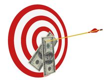 Business Target. Concept in 3D Royalty Free Stock Image