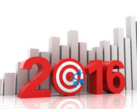 Business target for 2016 with bar chart Stock Photos