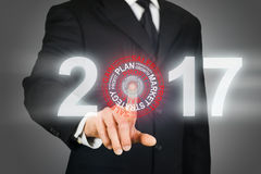 Business target 2017 royalty free stock image