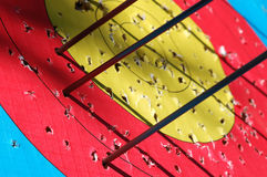Business target concept. Close-up of arrows hitting the target Royalty Free Stock Photos